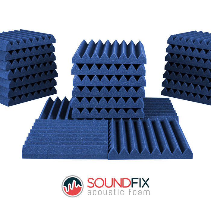 24 acoustic foam tiles pack