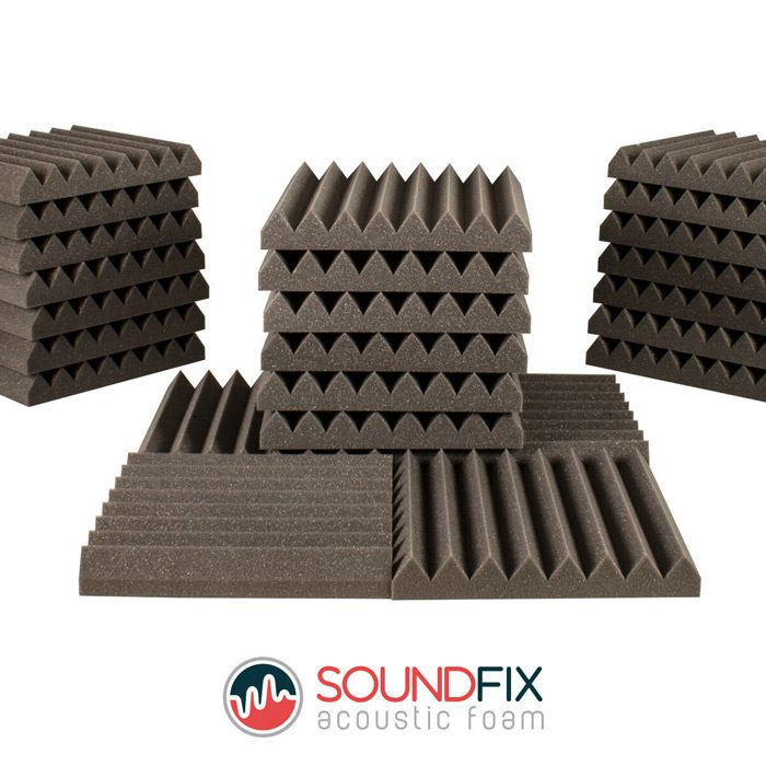 acoustic foam panels grey tiles