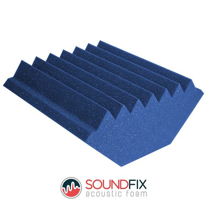 blue acoustic treatment bass trap
