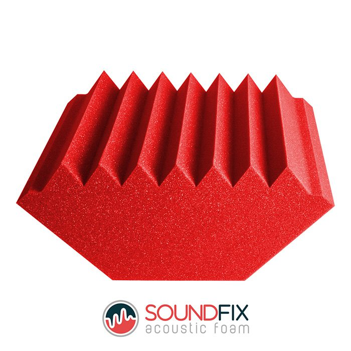 red acoustic foam bass trap