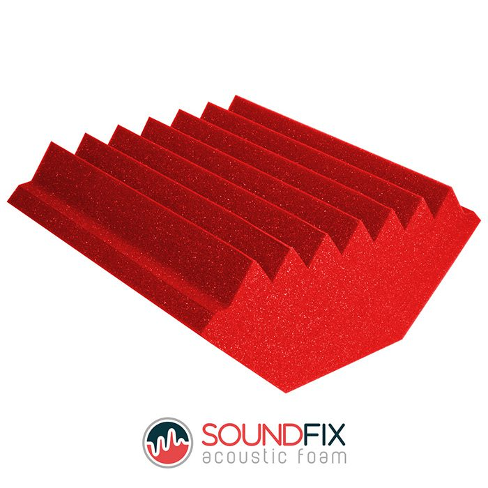 red acoustic treatment bass trap