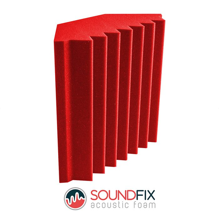 red bass trap acoustic foam