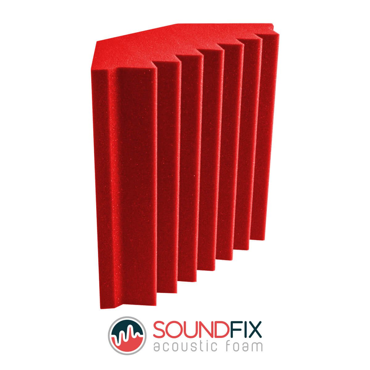 red acoustic foam bass traps room kit