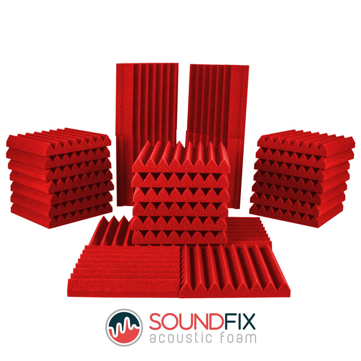 red acoustic foam room kit
