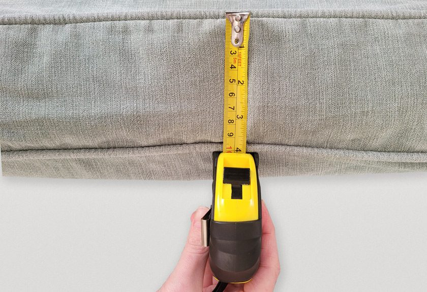 measuring cushion thickness